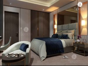 Bedroom in hotel style.