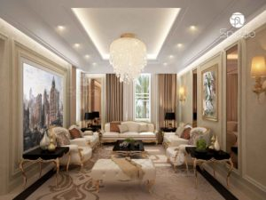 Classic style of residential house in UAE