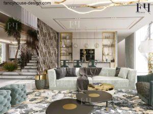Modern luxury sitting in a Dubai villa