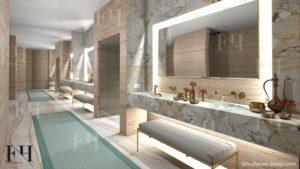 interior design for spa salon in Dubai