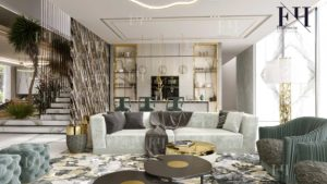 Interior decoration of living room in Dubai home.