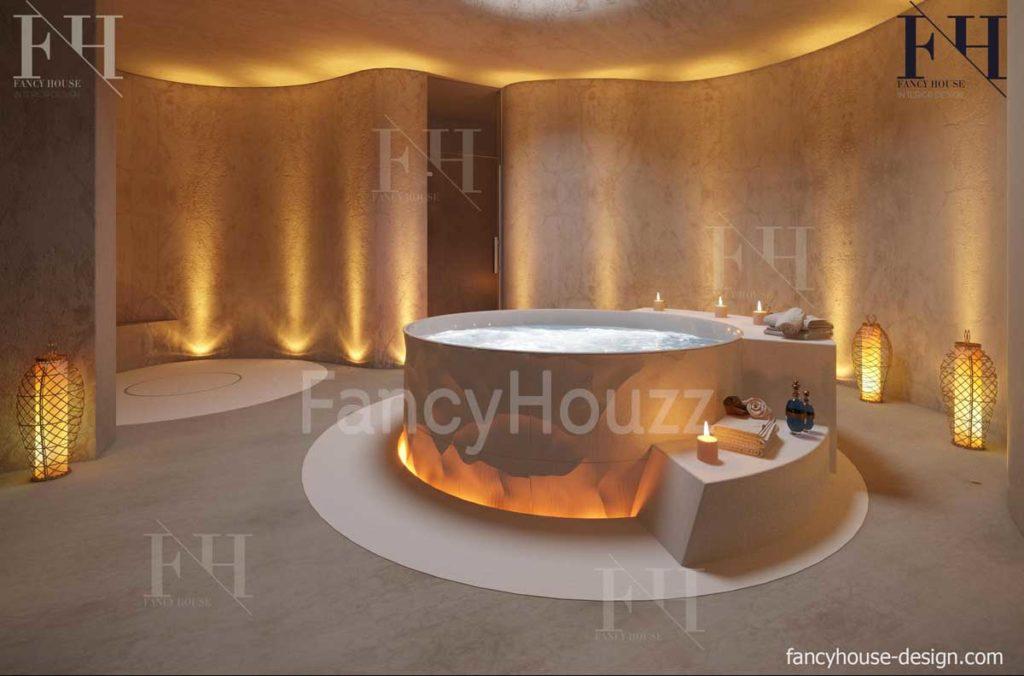 Luxury spa room inside appearance