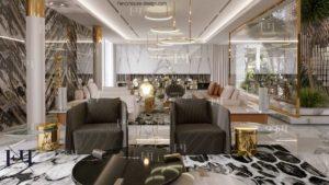 astonish modern villa decoration