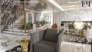 Contemporary high-end residential interior.