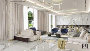 Modern luxury living room.