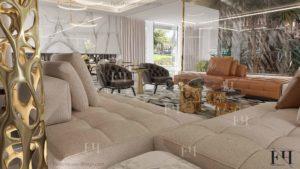 Modern villa interior decoration in Dubai UAE