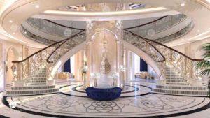 Royal palace decoration in UAE.