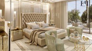 Unique sleeping room inside decorative solution.