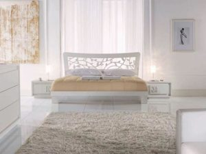 Bedroom in white colors