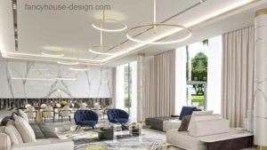Modern style villa interior design in Dubai
